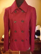 Apostrophe MissyWool CranberryRed PeaCoat Jacket Sz M