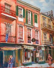 "TIM LAUER, ART, Royal St. Antiques, New Orleans, oil & acry. 20"" x 16"""