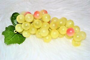 Weintraube künstlich gelb 18 cm Trauben Obst Dekoobst Kunstobst künstliches Obst