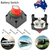 12V Battery Master Switch Boat Marine Caravan Dual Isolator 4Posi +Screws QG