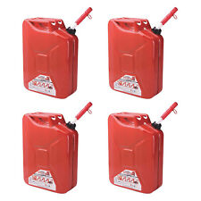 Midwest Can Company 5-Gallon Metal Gas Can with Quick Flow Spout, Red (4 Pack)