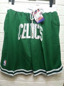 Just Don Mens Celtics Basketball Shorts Green Size XLarge