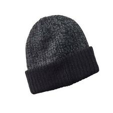 Apt. 9 Men's One Size Black Charcoal Marble Reversible Knit Beanie NEW