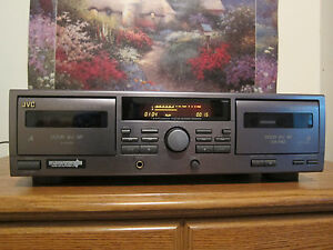 JVC TD-W215 DUAL CASSETTE DECK TAPE PLAYER RECORDER