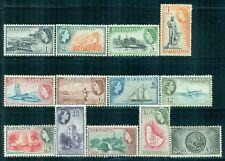 BARBADOS 235-47 SG289-301 MH 1953-57 QEII Defin set of 13 Cat$72