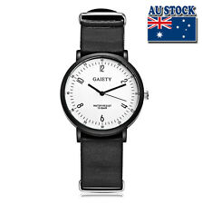 Whole Sale Hot Black Leather Luxury Men's White Dial Quartz Sports Wrist Watch