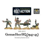 1943-45 German Heer Hq Miniatures - Warlord Games Bolt Action World War 2 Army