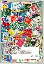 1000 World wide different NETHERLANDS stamps.