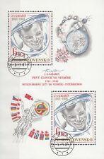 CSSR Nr. Block 43 (2611)  Jurij Gagarin - Erster Weltraumflug vor 20 Jahren
