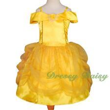 Girl Belle Princess Costume Party Halloween Fancy Dress Golden up Size 3-8 Fc017 8