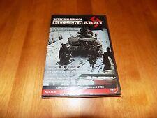 VOICES FROM HITLER'S ARMY Luftwaffe U-Boats Waffen SS Third Reich DVD SET NEW
