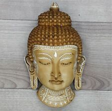 Buddha Mask Wall hanging Art Sculpture painting & carving Religious Statue
