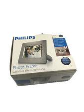 """Philips 7"""" Digital Photo Display Slideshow Frame 7FF1 Silver brushed frame    FS"""