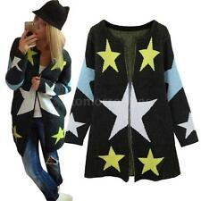 Acrylic Regular Long Floral Jumpers & Cardigans for Women
