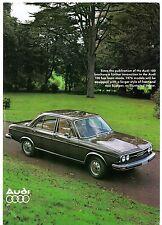 Audi 100 Saloon 'Big Bumper' 1976 UK Market Addendum Leaflet Sales Brochure