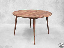 Round Scandinavian Retro Kitchen Dining Table Furniture Danish Wooden Modern