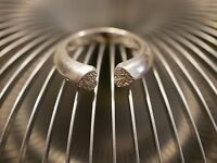 Hübscher 925 Silber Ring Herz Liebe Love Diamantiert Offen Beziehung Elegant