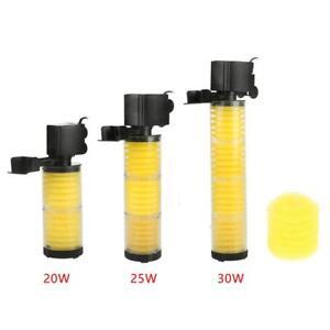 1200-1800L/H Submersible Water Internal Filter Pump For Aquarium Fish Tank Pond