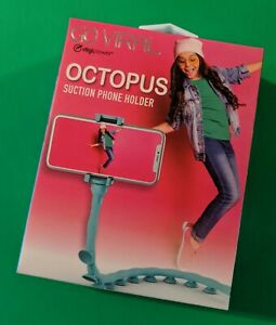 DigiPower Go Viral 20in Octopus Tenticle Suction Cup SmartPhone Holder (Teal)