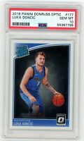 2018 Donruss Optic Luka Doncic ROOKIE RC #177 PSA 10 GEM MINT