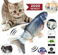 Electric Realistic Interactive Fish Cat Kicker Crazy Dancing Pet Toy Xmas Gift