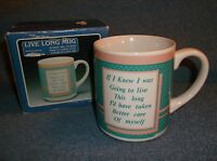 VINTAGE HOUSE OF LLOYS 1989 COFFEE CUP MUG - LIVE LONG - NEW IN BOX