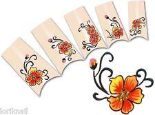 Nail Art Wasser Tattoo Aufkleber für Nageldesign Sticker Mohnblume Motiv SY113