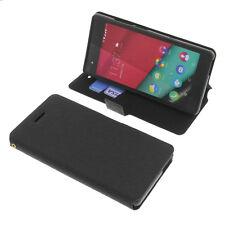 Custodia Per Wiko Pulp 4G Telefono Smartphone a Libro Protettiva Cellulare Nero