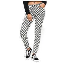 Dickies Girl White & Black Checkered High Rise Skinny Womens Juniors Jean S 5/27