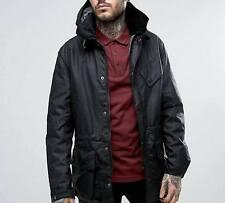 SALE !!! Barbour Onyx Waxed Parka Jacket Detachable Hood RRP £279,Size M