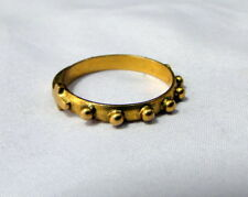 vintage antique 22 k solid gold ring eternity with cross