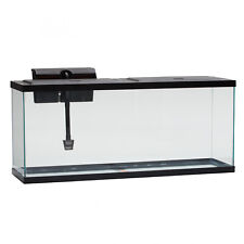 Glass 55-Gal Fish Tank LED Aquarium W  Low-Profile Hood & Tetra Internal