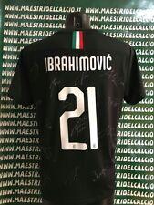 "MAGLIA GARA THIRD ""IBRAHIMOVIC 21"" AUTOGRAFATA A.C. MILAN 2019/2020"