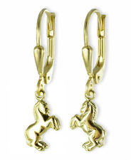🐎 ECHT GOLD *** Pferd Kinder Damen Ohrhänger Ohrringe