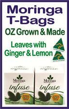 MORINGA T-BAGS OZ Grown & Made, Moringa LEAF with Ginger & Lemon X 2 Boxes - 48G