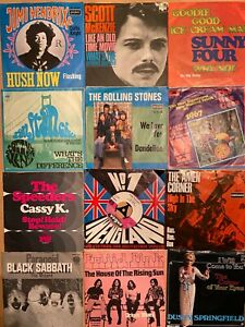 Stones Beatles Elvis Sabbath Hendrix and much more / 36 Singles aus Privatsammlu