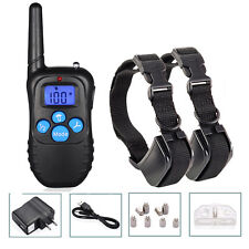 Rechargeable LCD Electric Dog Training Shock Collar Behavior Corrector for 2 Dog