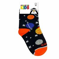 Cool Socks, Kid's, Graphic, Planets Solar System, Crew, Fun Crazy Novelty