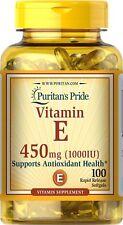 Great Seller Feedback Puritan's Pride Vitamin E 1000 IU 100 Softgels 450 mg