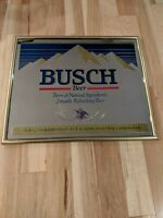 Vintage BUSCH BEER MIRROR Sign 23x19
