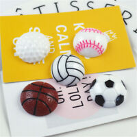Round 23mm Resin Cabochons 10 pcs Sports Balls Craft Decor DIY Jewellery Making