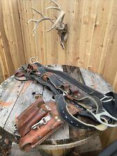 Jelco 4D Ring 86868 Climbing Belt w/Bashlin Tool Poi Size 27 48 Model #550