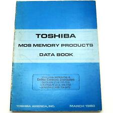 Toshiba Mos Memory Data Book Vintage 1980 Ic Manual Dram Ram Cmos Prom Eprom Rom