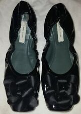 Marc Jacobs Noir Cuir Verni Ballet Pumps UK 2.5