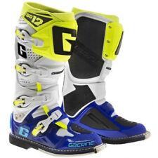 GAERNE SG12 MOTOCROSS ENDURO MX BOOTS WHITE / BLUE / YELLOW FLOU bike RRP £480