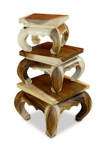 Side Table Wood Solid Wood Table Set Opium Table Solid Living Room Tables Suar
