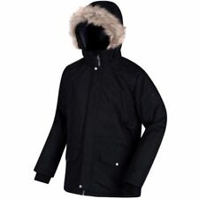 Regatta Salton Mens Waterproof Outdoor Ski Jacket Parka Black (Medium)