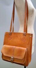 Leather Satchel Vintage Handbag Shopper Shoulder Tan Brown Tote Case