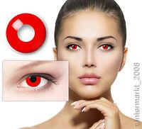 Crazy & Fun Kontaktlinsen Contact lenses - DEVIL RED - 60 ml + Behälter