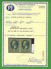 US #147-E13d 3c Washington Essay Pair w/PF Philatelic Foundation Certificate